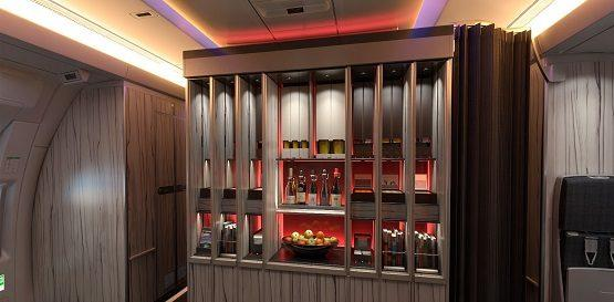 China Airlines business bar