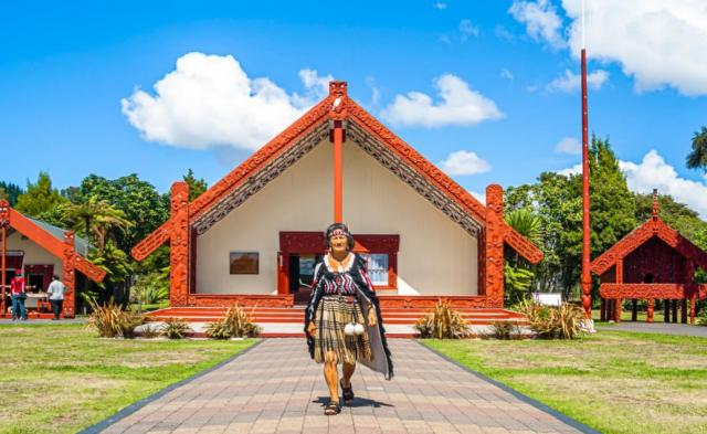 Maorská kultura Nový Zéland - Te Puia