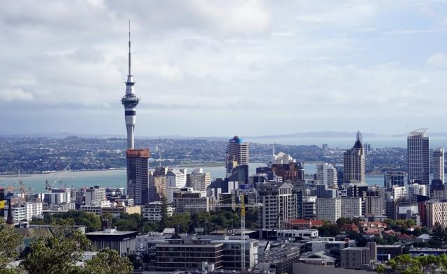Vyhlídková věž Sky Tower Auckland