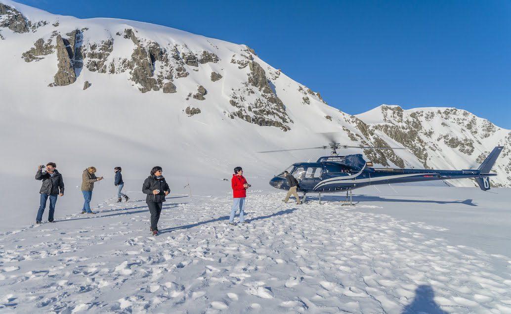 Lety vrtulníkem nad ledovci Fox a Franz Josef,  Mt. Tasman a Mt. Cook