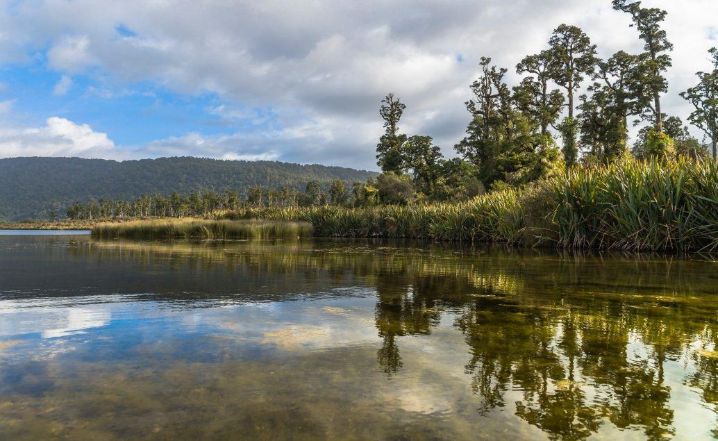 Noclech u jezera Moeraki