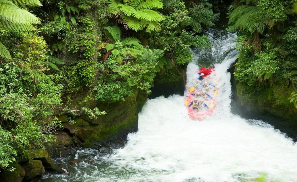Mt. Tarawera a sjezd řeky Kaituna na raftu