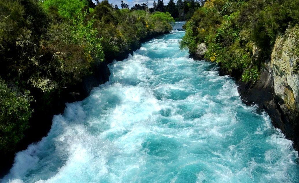 Pán prstenů Nový Zéland Huka Falls