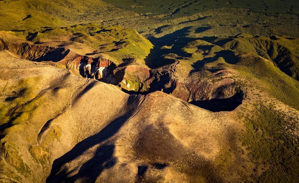 Mt. Tarawera v kombinaci s Te Puia