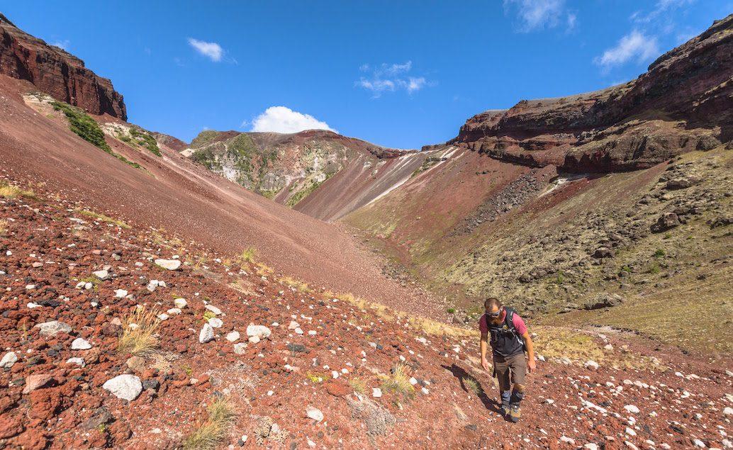 Výlet na vrchol kráteru hory Tarawera