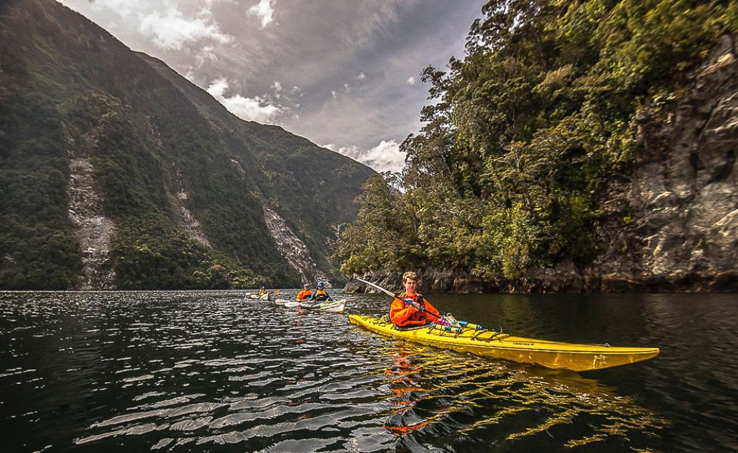 Na kajaku po Doubtful Sound