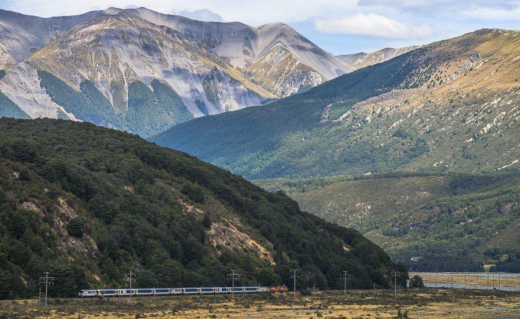 Vlakem po Jižním ostrově Nového Zélandu