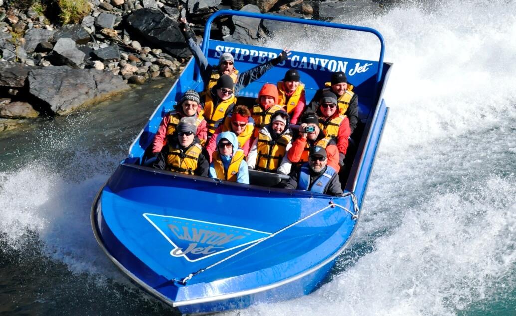 Nový Zéland aktivně pro mladé Jetboat