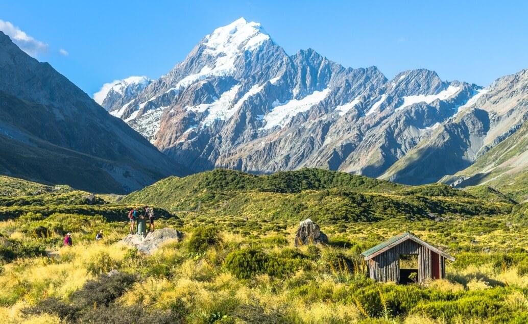 Nový Zéland aktivně pro mladé Mt Cook